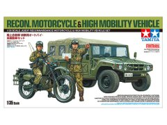 Набір збірних моделей 1/35 JGSDF Reconnaissance Motorcycle & High Mobility Vehicle Set Tamiya 25188