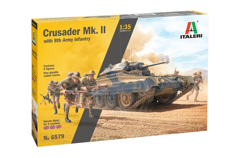 Збірна модель Crusader II w / 8th Army Infantry 1/35 Italeri 6579